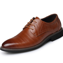 Men Leather 2016 Fashion Wedding Shoes