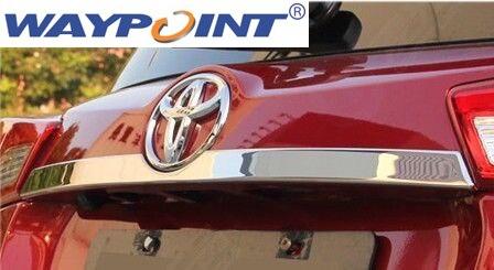 Garniture de moulage de couvercle de coffre arrière en acier inoxydable Chrome pour Toyota RAV4 2013-up 2014
