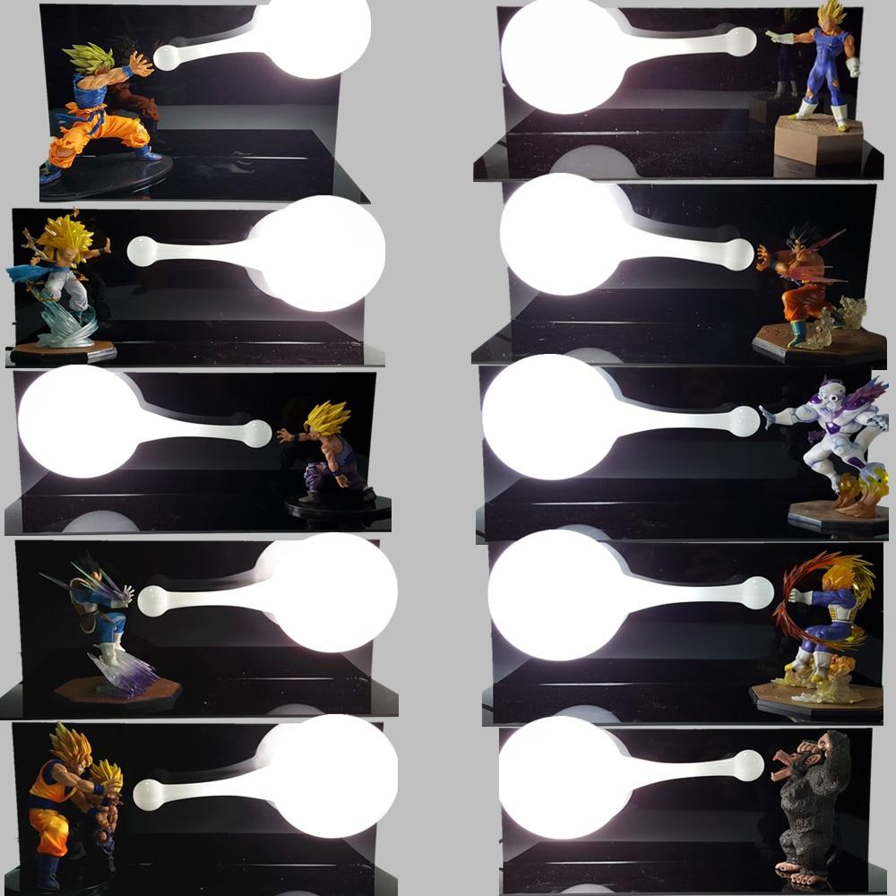Lampada Da Tavolo Luminaria LED Nightlight Son Goku di Dragon Ball Z Vegeta Gohan Kamehameha Anime Dragon Ball Z Room Illuminazione Decorativa