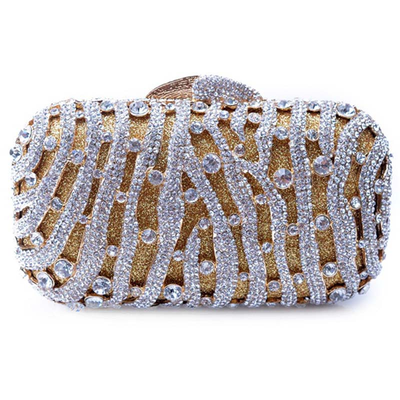 Hollow Out Ladies Clutch Luxury Evening Bag Crystal Clutch Purse Wedding Party Banquet Wallet Chain Hand Bag luxury crystal clutch handbag women evening bag wedding party purses banquet
