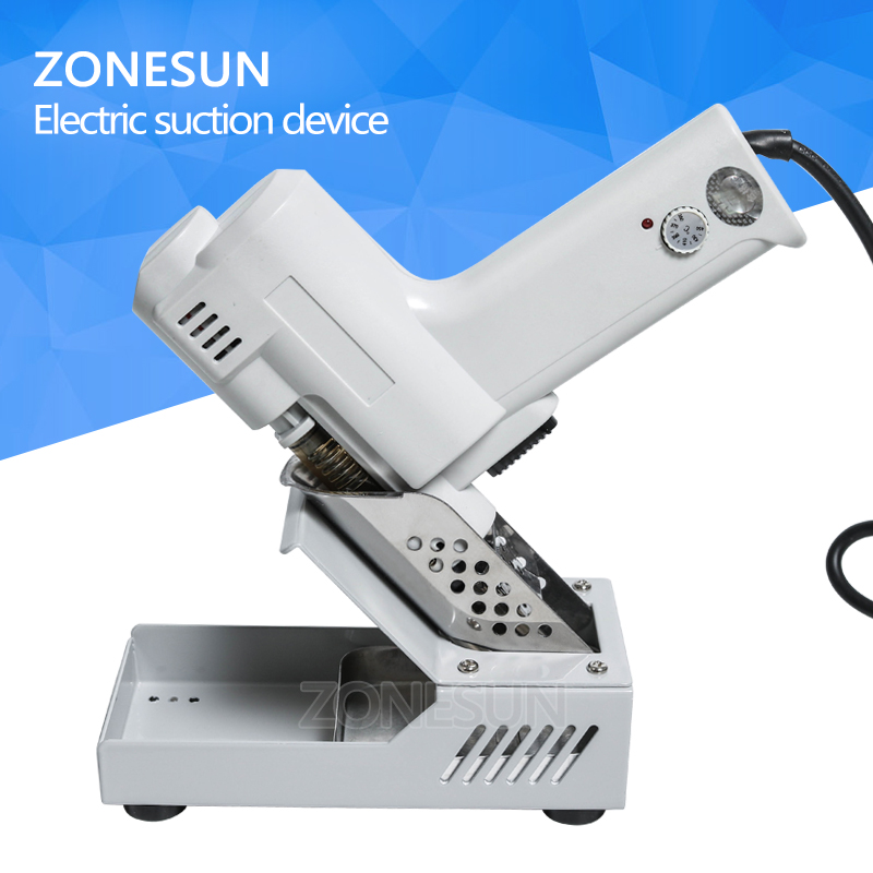 цена на ZONESUN Desoldering Gun Electric absorb gun S-993A Electric Vacuum Desoldering Pump Solder Sucker Gun 100W