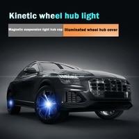 Luminous magnetic suspension hub LED wheel center cover light for Audi BMW Mercedes Great Wall Honda Toyota