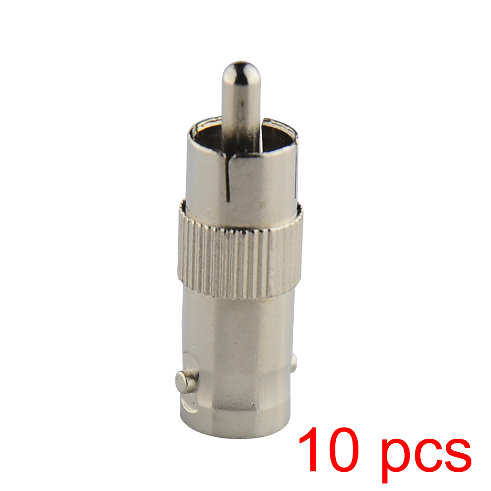 10x RCA Male to BNC Female Jack Connector Adapter Coupler Plug for CCTV Camera 10pcs pcs cctv bnc male to rca female coal convert plug bnc connector