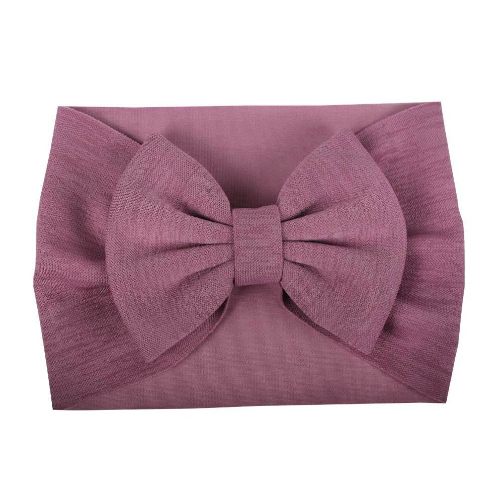 1pcs Knot Bow Nylon Headbands ,Cable Knit Wide Cotton Headwraps Soft Hairwear Christmas Hair Accessories For Girls Kids