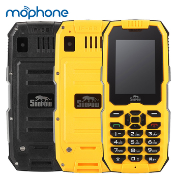 Snopow M2 2G Rugged Mobile Phone IP68 Waterproof Dustproof Shockproof Loud Speaker 2500mAh 2.4inch GSM Feature Phone feature phone