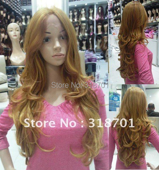 ФОТО Long Wavy synthetic Lace Front Wig 24