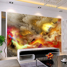 3D Wallpaper Modern Abstract Art Colorful Clouds