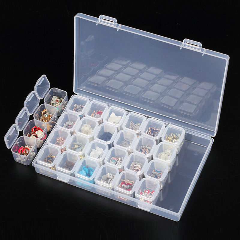 Beads Container Rhinestones Storage Boxes Diamond Painting Tools Embroidery Kits