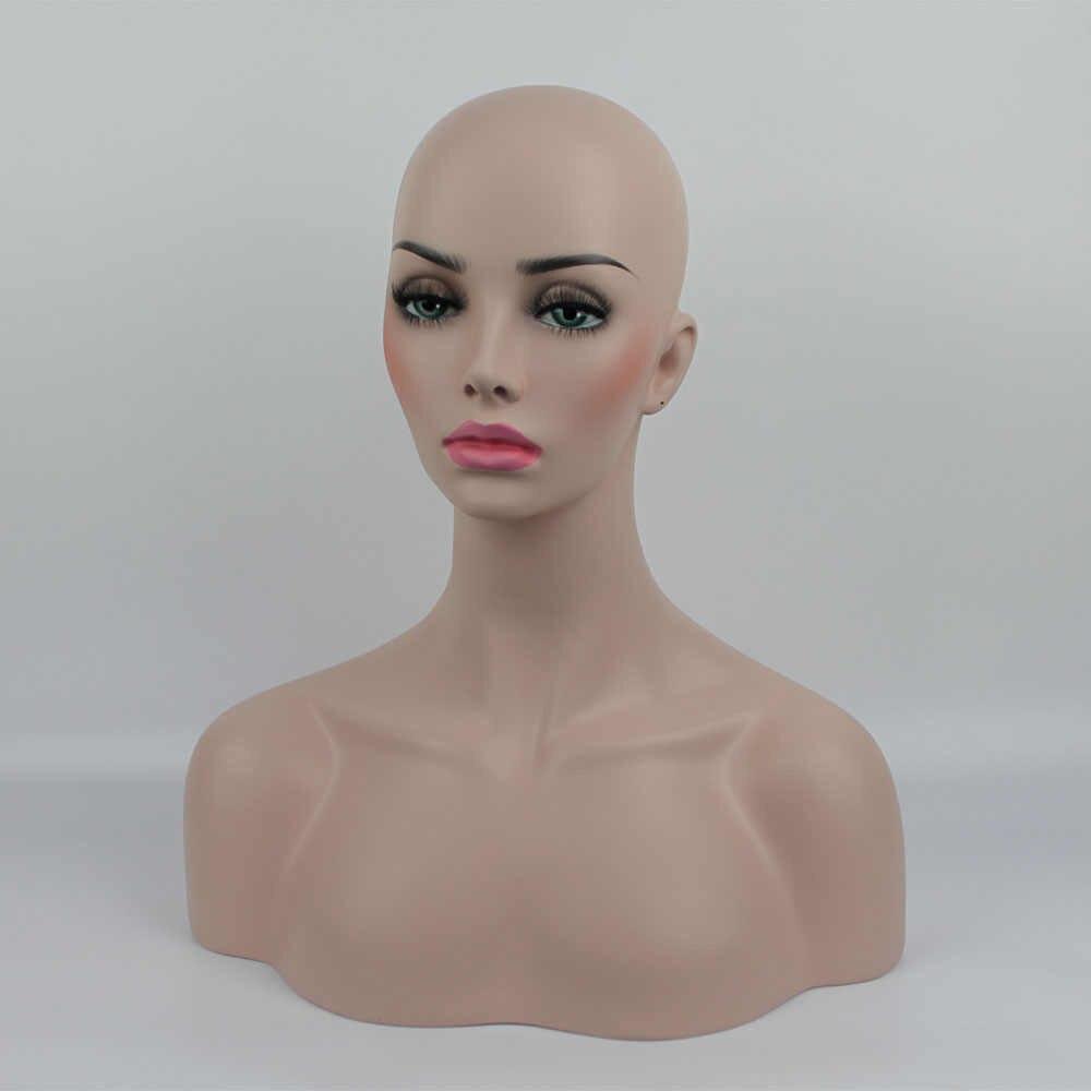 グラスファイバー現実的な女性のマネキンマネキンダミーファイバーマネキンヘッドバスト帽子サングラスジュエリー表示