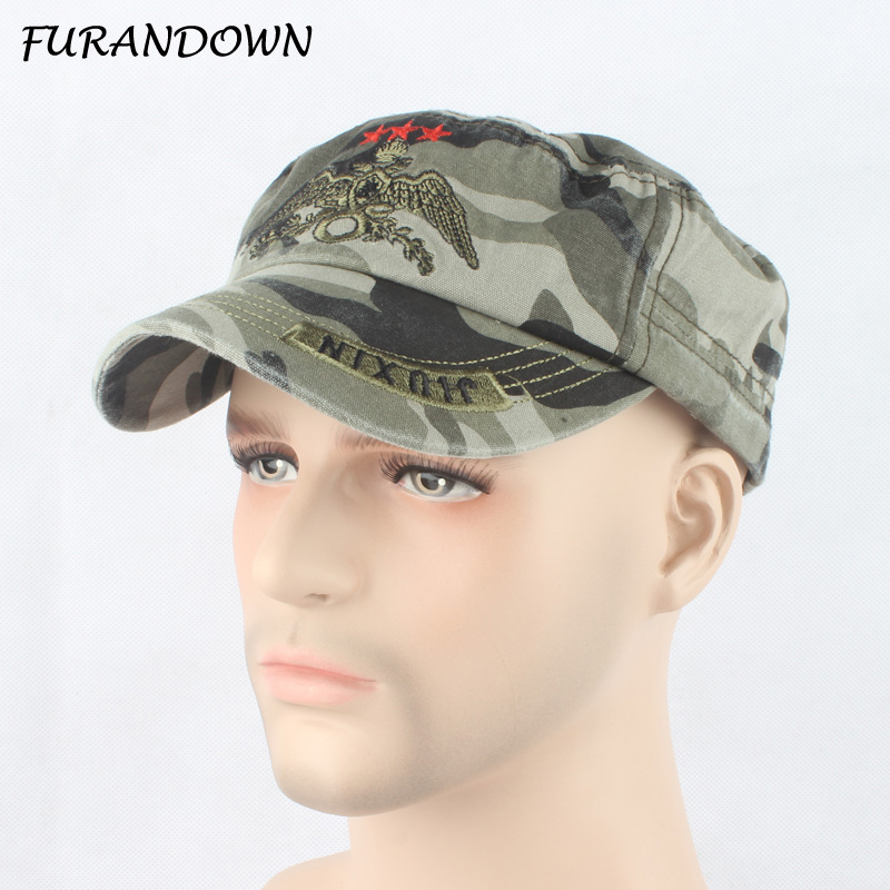 FURANDOWN 2017 New Fashion Camouflage Baseball Caps Uomo Army Cap - Accessori per vestiti