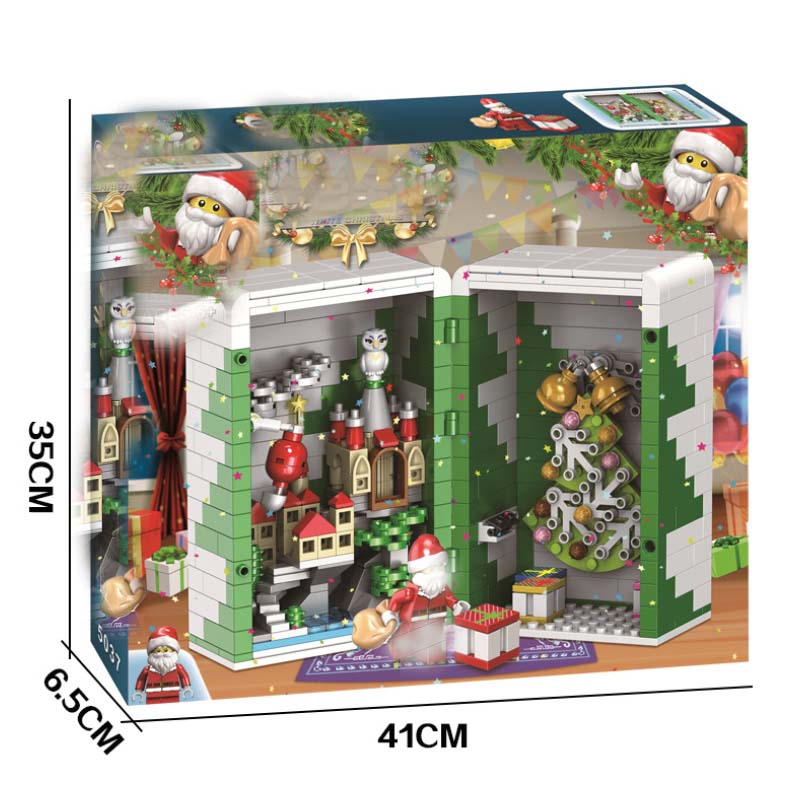 Winner 5037 452pcs Winter Christmas Gift Box Santa Claus Building Blocks Compatible With legoings in Blocks from Toys Hobbies