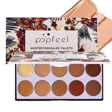 Popfeel Concealer Palette Long Lasting 10 Colors Foundation Makeup Contouring Facial Hide Blemish Palette Concealer Cosmetics недорого