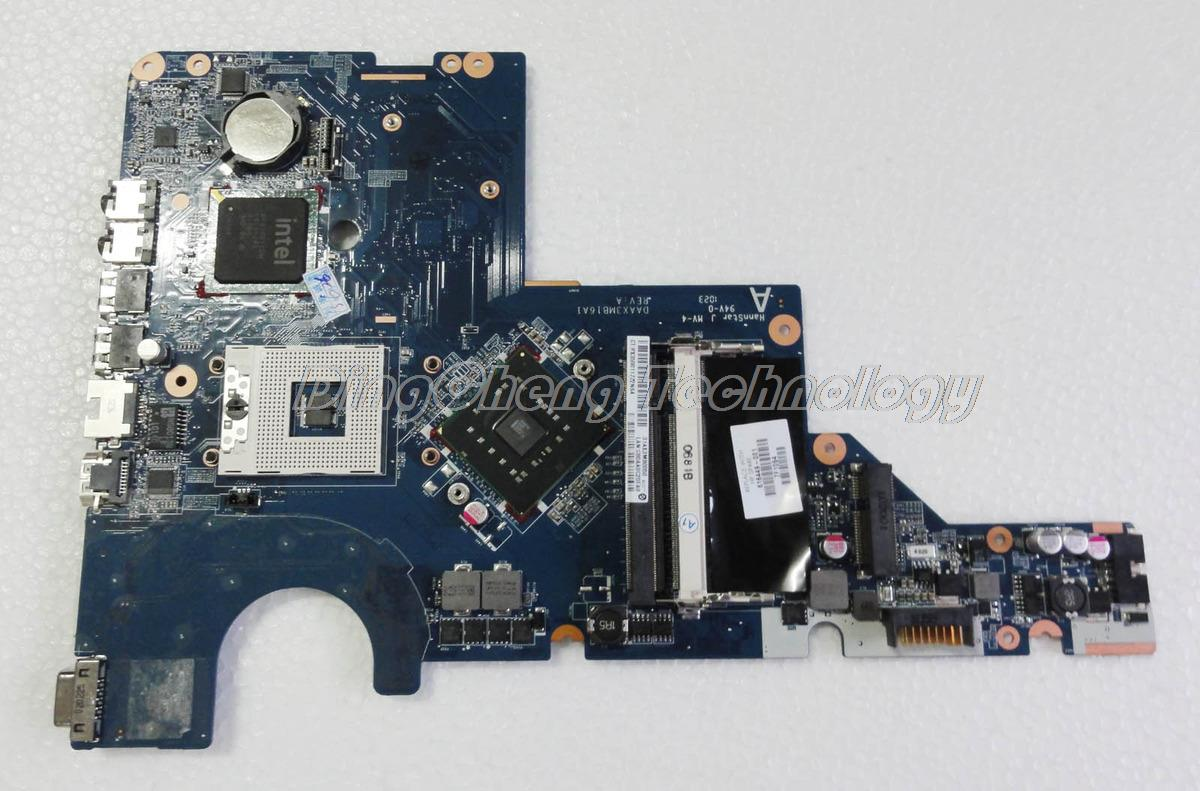 For hp CQ62 G62 616449-001 Laptop Motherboard DAAX3MB16A1 REV:A for intel cpu with integrated graphics card 100% tested fully for hp g62 g72 laptop motherboard with graphics 615848 001 01013y000 388 g
