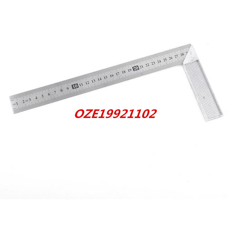1PCS Office 30cm Measurement Range Stainless Steel 90 Degree Angle Ruler scale ruler mapping measurement of office stationery 15 20 30cm aluminium alloy ruler steel cutting ruler