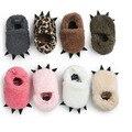 Romirus nueva moda de invierno infantil del niño recién nacido del bebé primeros caminante zapatos botas de nieve cubierta niños monster garra súper cálido botín