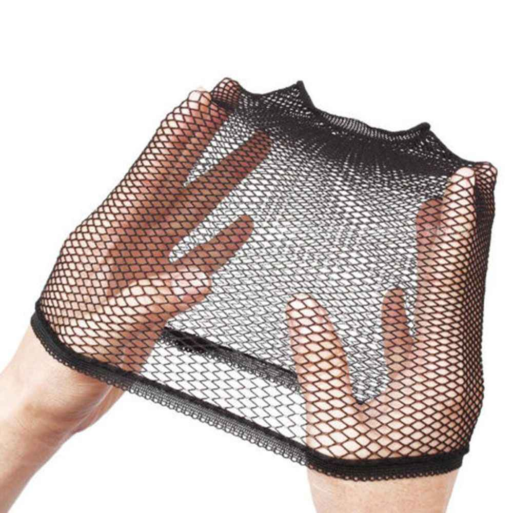 La mejor venta de gorras para el cabello de malla de buena calidad tejidas con red de peluca negra