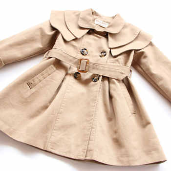 2019 spring New girl baby Girls Trench Coat jacket Children Clothing Sets Casual Wear Double Breasted Coat 10sets/lot