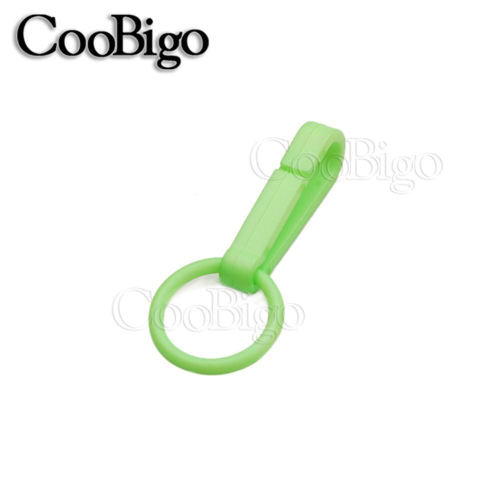 100 шт Упаковка Пластиковые Красочные защелки крюк перчатки пряжки-Крючки с уплотнительным кольцом звено цепи вешалка сумка Запчасти Аксессуары# FLC078(Mix-s - Цвет: NeonGreen