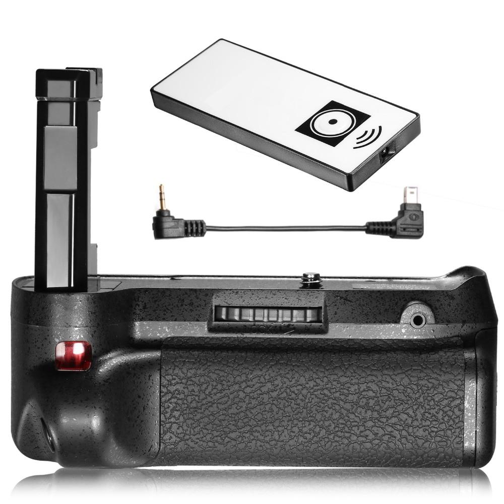 цена на Neewer Infrared Remote Control Vertical Battery Grip Work with EN-EL14/14A Battery for Nikon D3100 D3200 D3300 D5300 SLR Cameras
