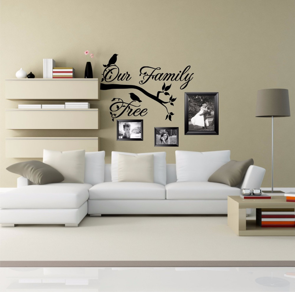 Home Decor Art Tree Wall Sticker Removable Mural Decal: Family Tree Removable Wall Stickers For Living Room Home