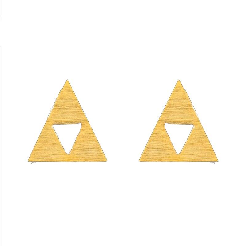 1d24d976659e3 10 زوج وحدة ذهبي اللون أسطورة زيلدا triforce وأقراط للنساء الرجال مثلث  القرط الأزياء عروس المقاوم للصدأ brincos