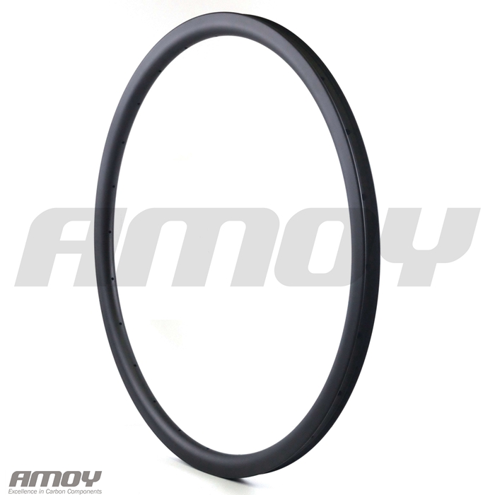 Image 4 - 29er MTB XC 30mm carbon rim clincher tubeless 35mm deep UD 3K 12K matte glossy 24H 28H 32H 29in mountain wheelRims   -