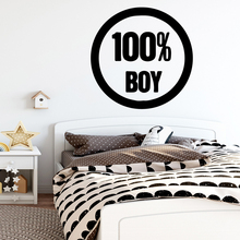 Creative 100%BOY Wall Stickers Self Adhesive Art Wallpaper Pvc Decals Decor