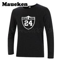 Long Sleeve Men Beast Mode Marshawn Lynch 24 oakland T Shirt Clothes T Shirt Men's Autumn Winter W17100819