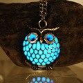 Новинка, светящееся ожерелье с совой, полое ожерелье с совой, светится в темноте, светящееся в темноте, подарок для женщин, ожерелье - фото