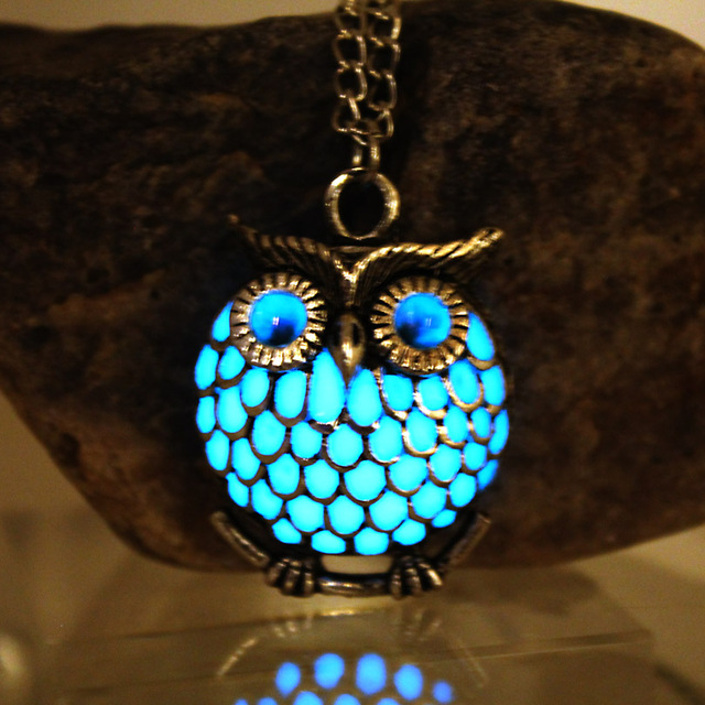 Glowing Owl Hollow Necklace