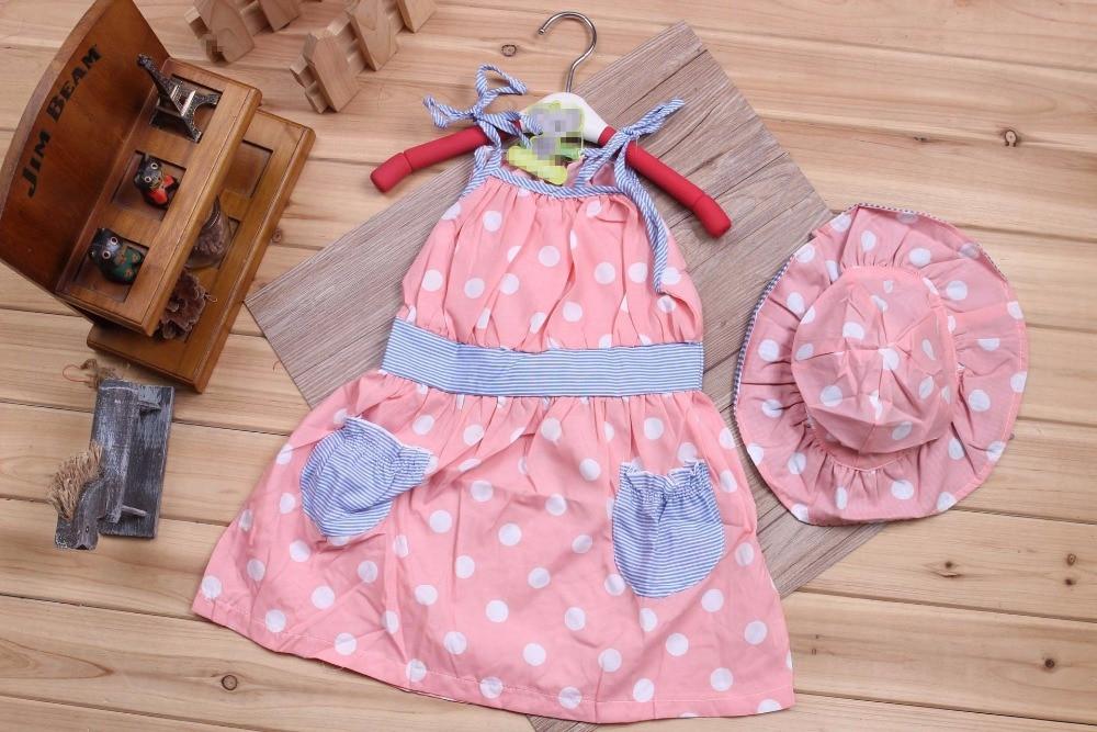 53127b2c1 Pretty Dresses Set 2 Pcs Dot Sun Hat + Sexy Suspender Toddler Little ...