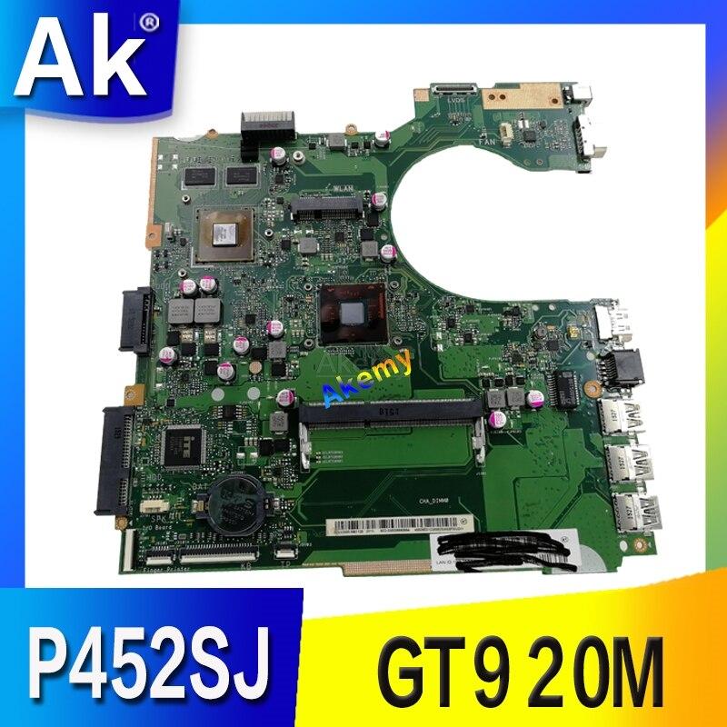 P452SJ Laptop Motherboard For Asus P452S P452SJ PRO452S Mainboard 100% Teste OK  N3700 CPU GT920M/2GBP452SJ Laptop Motherboard For Asus P452S P452SJ PRO452S Mainboard 100% Teste OK  N3700 CPU GT920M/2GB