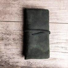Daffdoil Handmade Genuine Leather Wallet Men Women Original Design Organ Cattle Rfid Wallets Gift Crazy Horse Skin