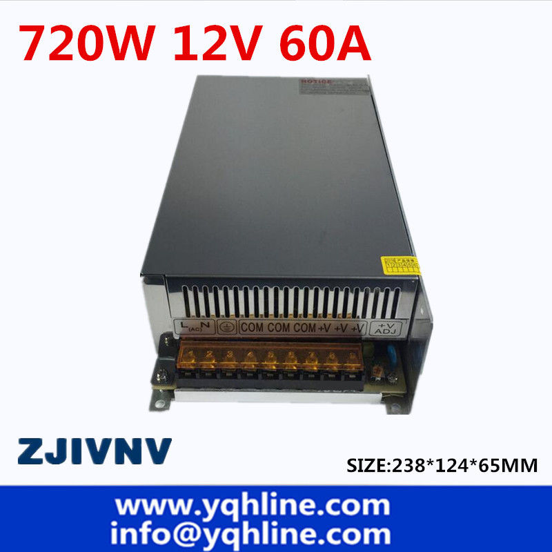 цена на Factory sales directly 720W 12V 60A Switching power supply Single Output power led driver for LED Strip CNC (S-720-12)