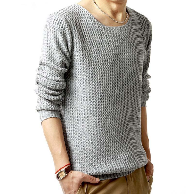 Fashion Mens Sweaters Spring Autumn Winter Casual Knitted Pullovers Men Grey Black O Neck Male Thin