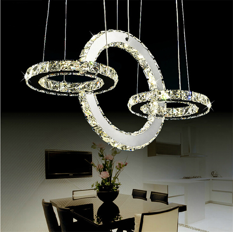 Hot sale Diamond Ring LED Crystal Chandelier Light Modern Lamp Circle Light Fashion Style Crystal Luxury Bedroom Chandelier hot sale diamond ring led crystal chandelier light modern pendant lamp 100