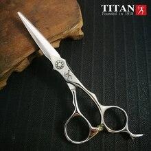 Titan tesoura de cabelo vg10 aço, tesoura afiada feita à mão