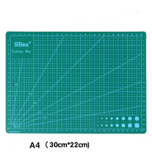 High quality and durable Cutting Mat DIY TOOL A4 Pvc Rectangle Grid Lines Fabric Leather Paper Craft  1 pc a4 grid lines cutting mat craft card fabric leather paper board 30 22cm