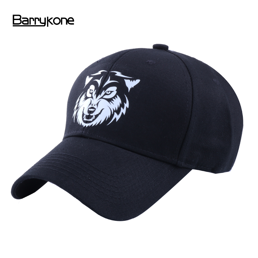 Wholesale Cotton Baseball Cap Summer Solid Color Cap for Men Women Hip Hop Fitted Hat 6 Panels WOLF Print Snapback Dad Casquette fashion cotton baseball cap women vintage anchor snapback hat for men casual patch dad cap summer trucker hat casquette bones