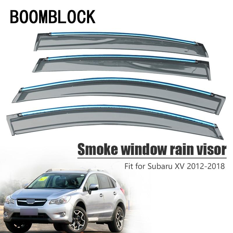 High Quality 4pcs Smoke Window Rain Visor For Subaru XV 2018 2017 2016 2015 2014 2013