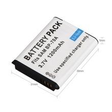 1 шт. 1200 мА/ч, BP-70A BP70A BP 70A цифровой Камера Батарея для samsung AQ100 DV150F ES65 ES67 ES70 ES71 ES73 ES75 ES80 TL105 MV800