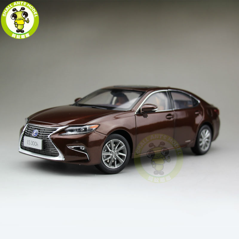 1/18 Toyota Lexus ES 300 ES300H Diecast Model Car Suv hobby collection Gifts Brown white 1 18 scale lexus rx200t rx 200t suv luxury collection diecast model car aluminum