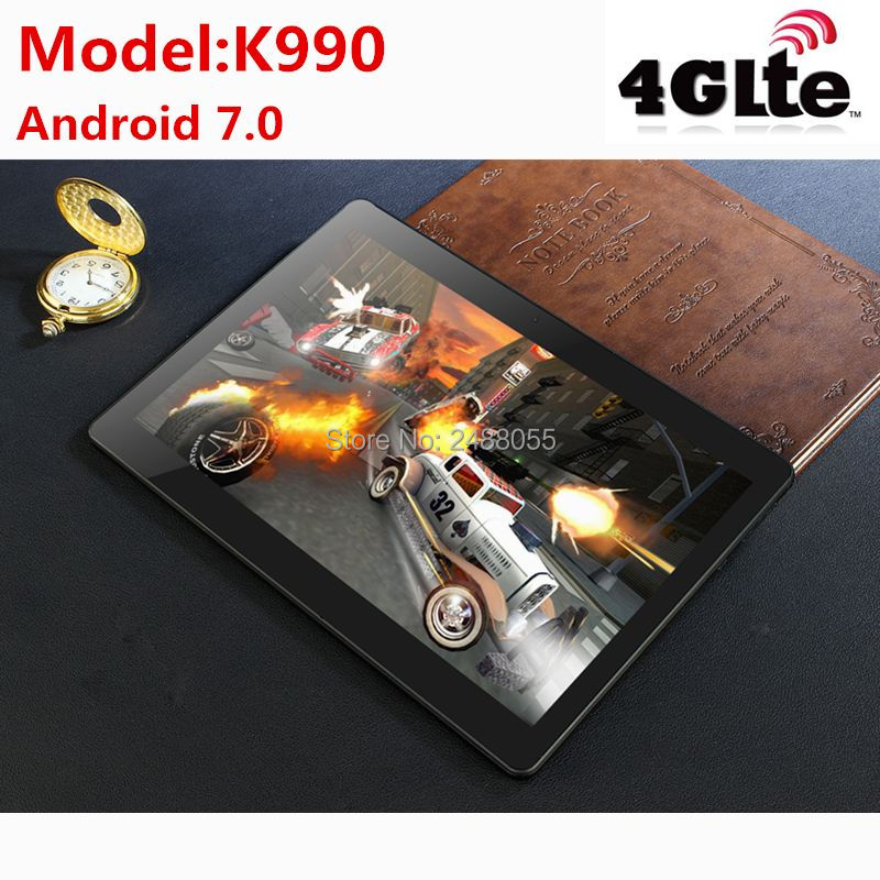 Tablets K990 Octa Core 10.1 Inch Tablet MTK8752 Android Tablet 4GB RAM 64GB ROM Dual SIM Bluetooth GPS Android 7.0 10 Tablet PC
