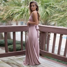 Pink Bandage Long Dress Convertible Robe