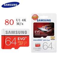 SAMSUNG Memory Card 256GB 128GB 64GB 32GB 16GB 80M S EVO MicroSD Storage Card EVO Plus