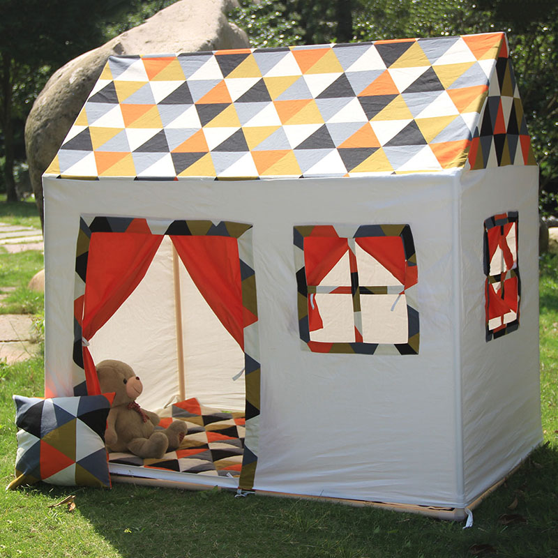 New Design Children Tent Toys Game Room House Kids Play Tent Large Space Indoor Outside Toy Tents 145*141*90 cm  цена