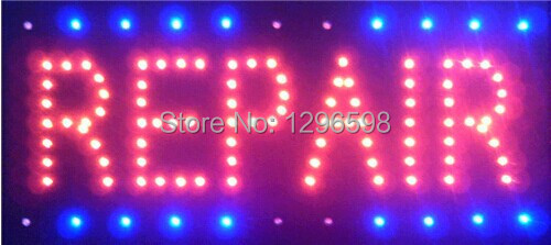 2017 direct selling custom led sign 10*19 inch semi-outdoor Ultra Bright repair store advertising Running signage