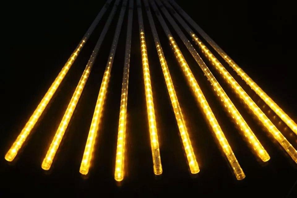 50 cm de long 5050 SMD 72leds/tube; Chutes de Neige Météore a mené le tube; 12mm de diamètre; 10 pièces/ensemble; AC90-260V d'entrée