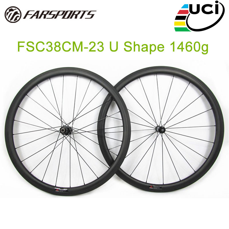 11 speed carbon road bicycle wheelset 20 24 spoke holes ( FSC38CM 23U ) 700C full carbon fiber chinese cheap bicycle wheels