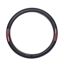 Car styling for FlameRS RACING emblem diameter 38cm Carbon fiber steering wheel cover for  ford focus 2 mk2 fiesta accessories недорого